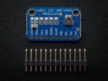 16 bites 4 csatornás AD konverter programozható jelerősítővel Raspberry PI-hez