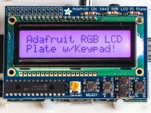 Raspberry PI kijelző RGB pozitív 16x2 LCD + billentyűzet KIT i2c interfésszel