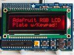 Raspberry PI kijelző RGB negatív 16x2 LCD + billentyűzet KIT i2c interfésszel