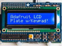 Raspberry PI kijelző kék/fehér 16x2 LCD + billentyűzet KIT i2c interfésszel