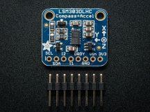 Adafruit 3 irányú gyorsulás és Mágnesesség érzékelő (iránytű) szenzor I2C interfésszel - LSM303