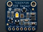 RGB színérzékelő (TCS34725) infravörös szűrővel és fehér LED-del