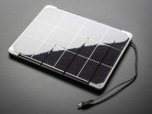 Solar Panel 6V 6Watt - monokristályos DC csatlakozóval