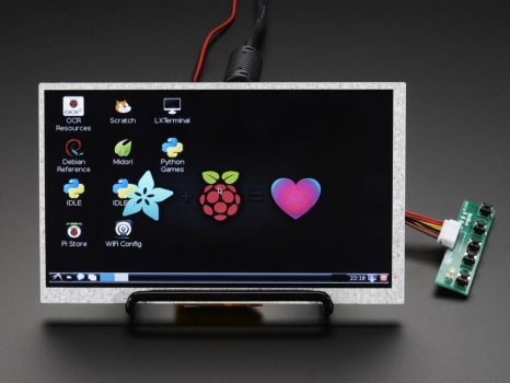 "7"" Display 800x480 - HDMI bemenet USB táp"