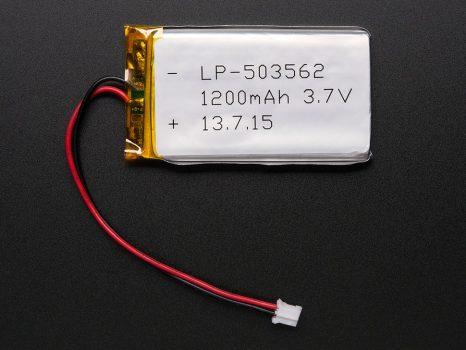 Lithium Ion Polymer Akkumulátor - LiPo 3.7v 1200mAh