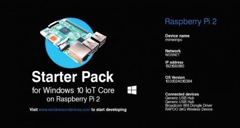 Windows 10 IoT Core fejlesztői csomag Raspberry PI-vel