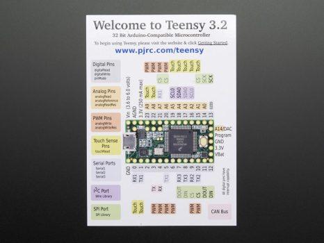 Teensy 3.2 csatlakozókkal