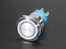 Fém ON/OFF kapcsoló világító RGB LED gyűrűvel - Vízálló 19mm 6V RGB On/Off
