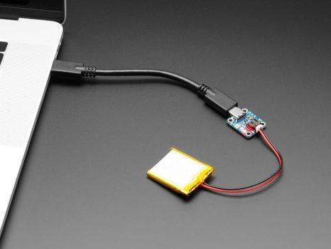 Adafruit Micro Lipo - USB-C - LiIon/LiPoly akkumulátor töltő