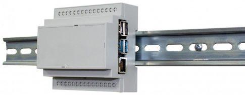 DIN ház - Raspberry PI 4 modellekhez - szürke fedővel