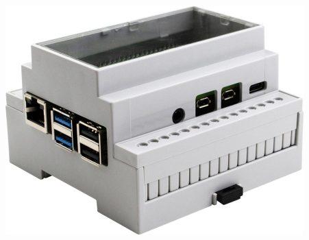 DIN ház - Raspberry PI 4 modellekhez - átlátszó fedővel