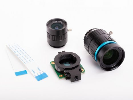 Raspberry Pi High Quality Camera - FULL KIT - HQ kamera , 16mm 10MP , 6mm 3MP optika csomag