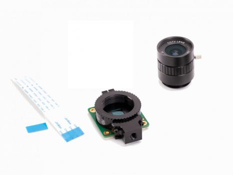 Raspberry Pi High Quality Camera - KIT - HQ kamera , 6mm 3MP optika csomag