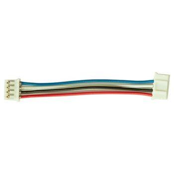 I2C kábel - 4 vezetékes 4 ill. 5 polusú 2mm anya csatlakozóval - IN830 és I2C modulokhoz rövid 7cm