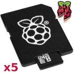 5 db Hivatalos 16GB microSD (Class10) memória kártya Raspberry PI-hez Telepített NOOBS rendszerrel