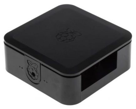Quattro Case 120 x 120 x 55mm Fekete Ház Raspberry Pi 2, Pi 3, Pi 3B+-hoz