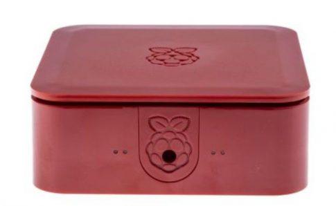 Quattro Case 120 x 120 x 55mm Piros Ház Raspberry Pi 2, Pi 3, Pi 3B+-hoz
