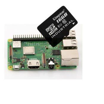 Raspberry PI 3 Model B PLUSZ  - szerver csomag - 16GB Industrial