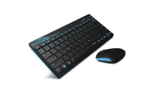 Rapoo 8000 Fekete/Kék vezetéknélküli billentyűzet és egér (HUN)