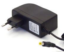 12V/1.25A hálózati adapter 5,5 x 2,5 x 10 mm-es jack kimeneti csatlakozóval