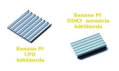 Hűtőborda készlet Banana PI-hez
