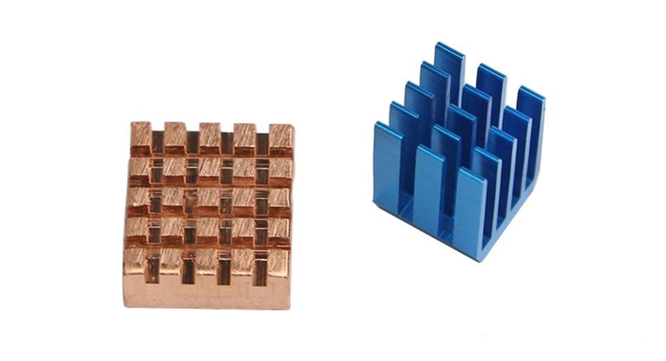 Réz + Alumínium hűtőborda készlet Raspberry PI2 / PI 3-hoz