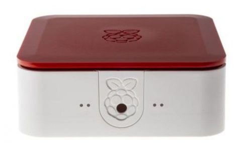 Quattro Case 120 x 120 x 55mm Fehér/Piros Ház Raspberry Pi 2, Pi 3, Pi 3B+-hoz