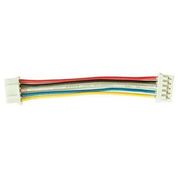 I2C kábel - 5 vezetékes 5 polusú 2mm anya csatlakozóval - IN830 modulhoz - rövid 7cm