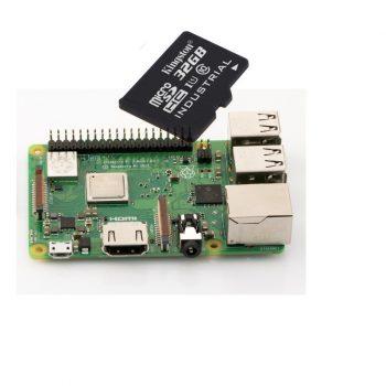 Raspberry PI 3 Model B PLUSZ  - szerver csomag - 32GB Industrial