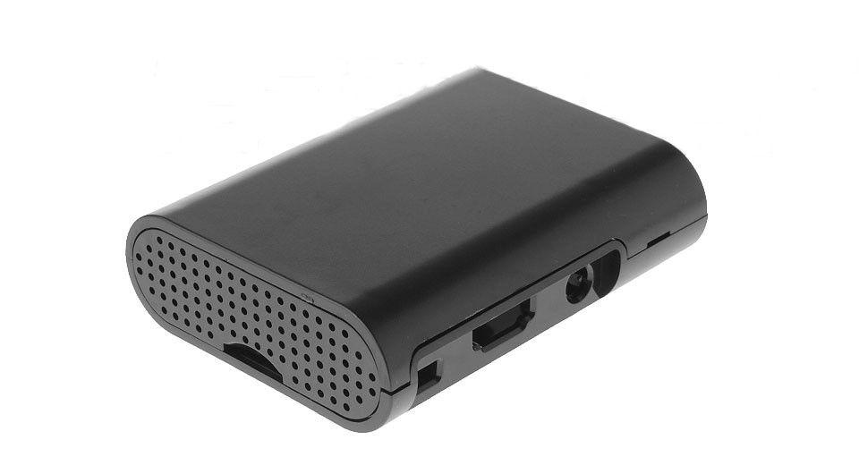 Design ház Raspberry PI 3 / PI 2 / B+ modellekhez - fekete