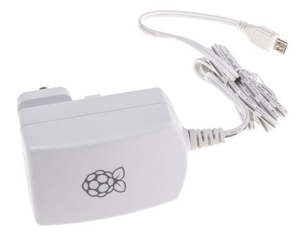 Hivatalos 5.1V 2.5A microUSB-s tápegység Raspberry PI-3-hoz