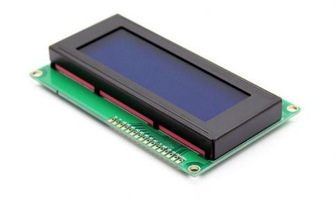 HD44780 kompatibilis 20x4 karakteres LCD kijelző - kék