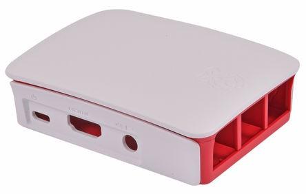 Hivatalos Raspberry PI ház - Raspberry PI 3B+-hoz Fehér/piros