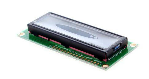 HD44780 kompatibilis 16x2 karakteres LCD kijelző - kék