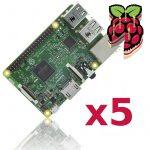 5db Raspberry Pi 3 Model B 64bit 1.2GHz Quad-Core beépített Bluetooth4.1 és 802.11 b/g/n WIFI