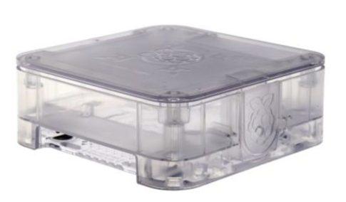 Quattro Case 120 x 120 x 55mm Átlátszó Ház Raspberry Pi 2, Pi 3, Pi 3B+-hoz