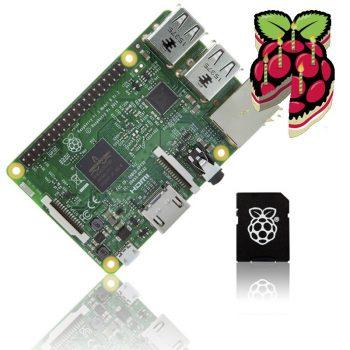 Raspberry Pi 3 Model B 64bit 1.2GHz Quad-Core + 16GB NOOBS