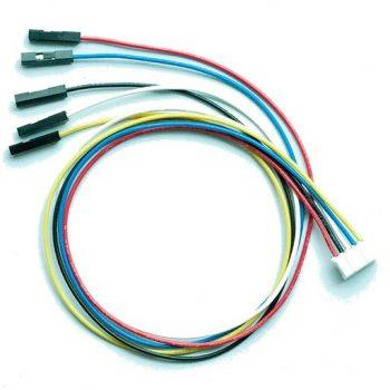 I2C kábel - 5 vezetékes 5 polusú 2mm anya csatlakozóval -  Raspberry PI-hez