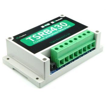 TSRB430 V2 - Bluetooth távvezérelhető 4 csatornás relémodul házban - 230V 30A Max