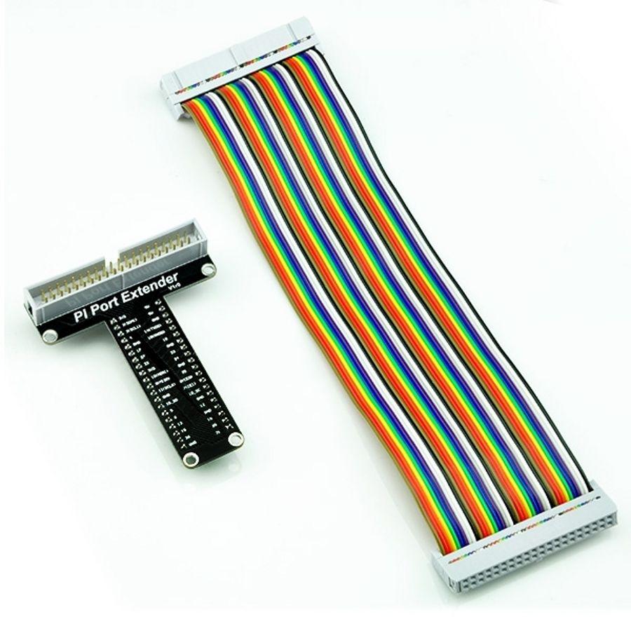 T alakú GPIO próbapanel csatlakozó Raspberry PI model B+-hoz