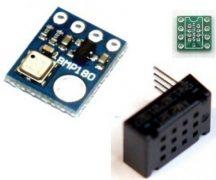 AM2321 + BMP180 Hőmérséklet / páratartalom és Hőmérséklet / légnyomás mérő szenzorok - I2C interfész
