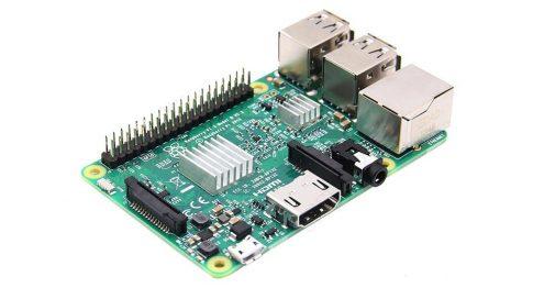 Raspberry Pi 3 Model B 64bit 1.2GHz Quad-Core  beépített Bluetooth4.1 és 802.11 b/g/n WIFI - Ajándék hűtőbordával!