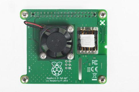 PoE (Power over Ethernet) HAT tápmodul Raspberry PI 3B+-hoz