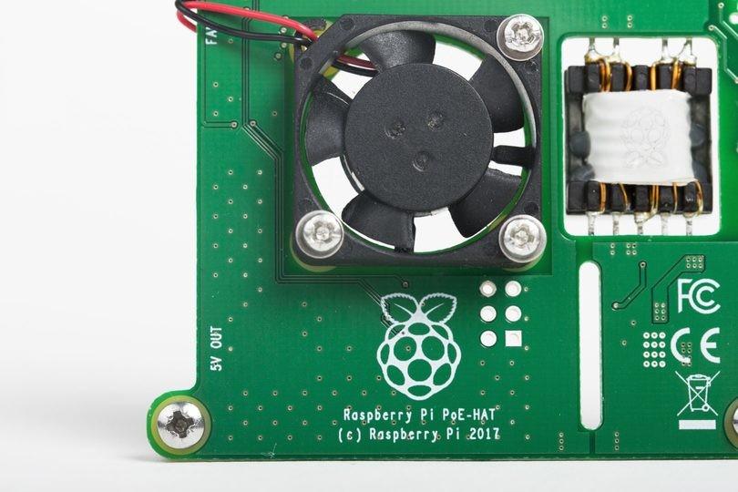 Raspberry PI PoE aktív hűtés