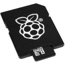 Hivatalos 8GB microSD (Class10) memória kártya Raspberry PI-hez Telepített NOOBS rendszerrel