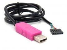 PL2303HXD USB-TTL Serial Debug kábel / Konzol kábel (100cm) WIn7/8/10 Android OTG