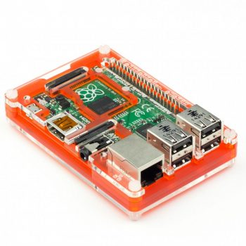 Pibow Coupé Tangerine ház (Raspberry Pi 3, 2, & B+)