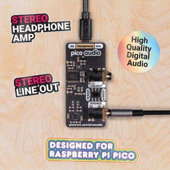 PICO Audio modul - Line-Out  és  fejhallgató erősítő kimenet - PCM5100A DAC 32-bit, 384KHz