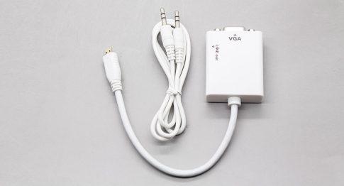 microHDMI-VGA átalakító kábel audio csatlakozással