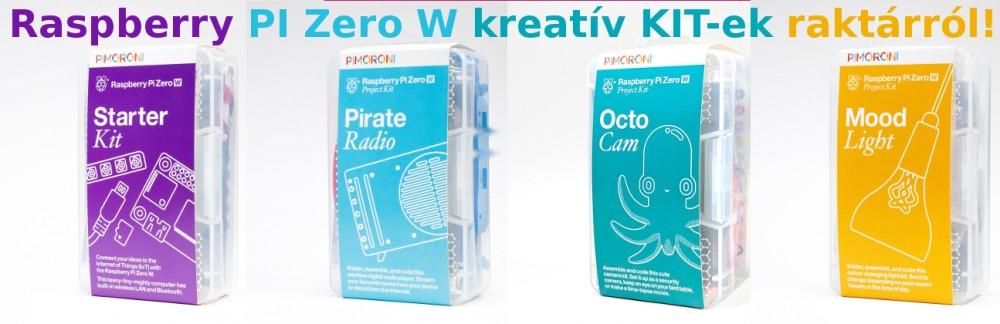 Raspberry PI Zero W kreatív Kitek